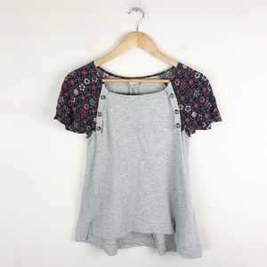 Anthropologie Postmark Flutter Sleeve Blouse